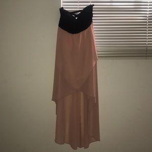 High low black pink dress still has tags!